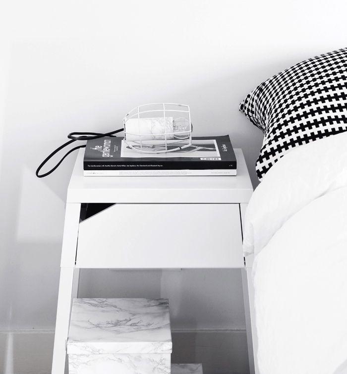 Via NordicDays.nl | MyDubio | IKEA | Bedroom | Black and White