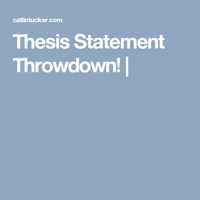 Rules for writing a thesis paper
