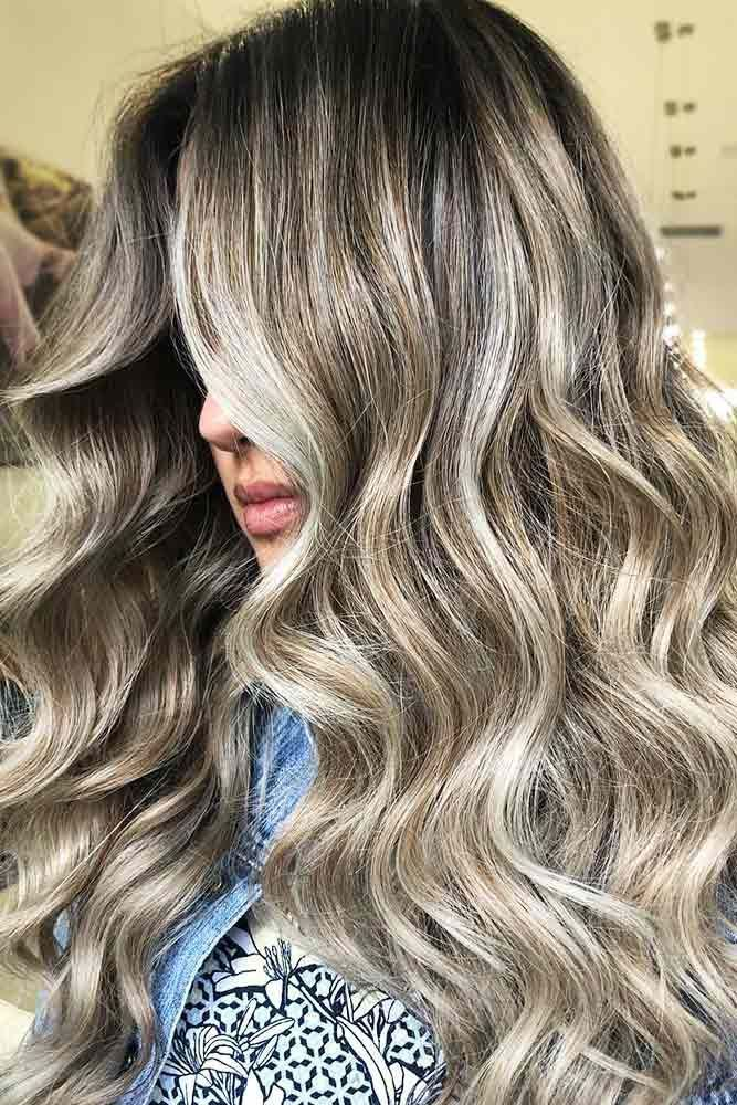 Hair Color 2017 2018 Silver And White Highlighted Hair Long