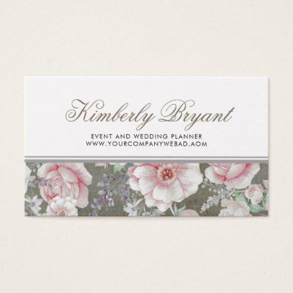 7 best business cards images on pinterest business card design elegant soft pink and white floral vintage business card reheart Choice Image