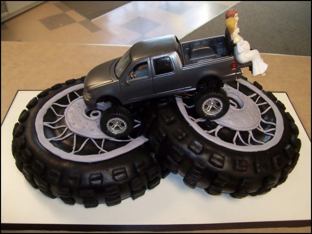 Tire wedding cake