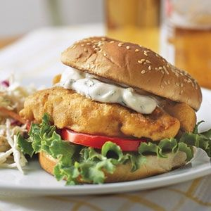 """Weight Watchers  """"Fried"""" Fish Sandwich Recipe: (Fish Is Baked)  :-)"""