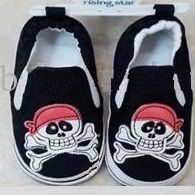 Jolly Roger Baby Shoes