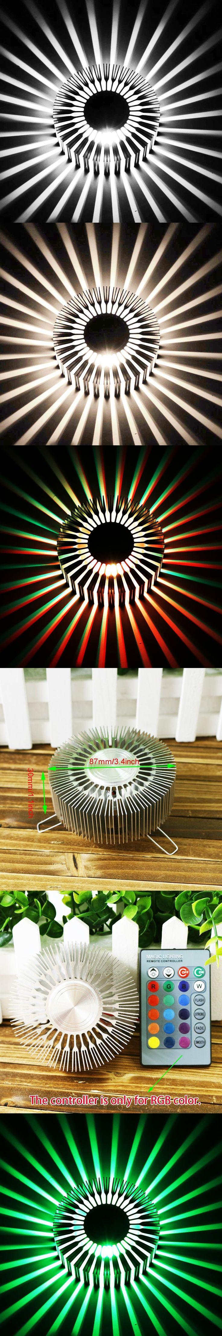3W Sunflower Wall Lamp  AC85-265V Modern Led Lighting For Indoor Decoration corridor aisle Restaurant free shipping DA