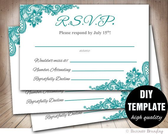 wedding response card template free