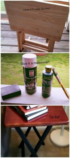 DIY tv tray table makeover! #upcycle