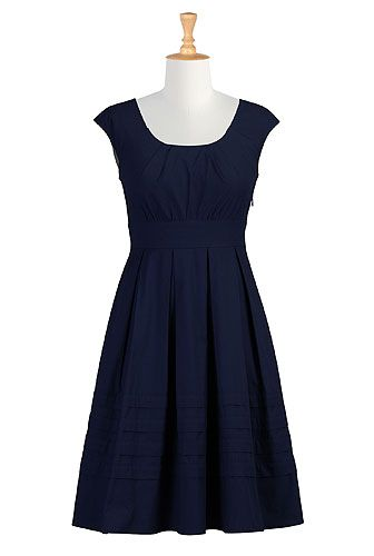 eShakti -I love this dress.  This would be perfect for grandpa's party red flats, and a white band around the waist!