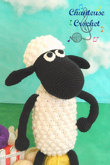#ShaunTheSheep Plushie pattern by Abigail Gonzalez (free download) #crochet