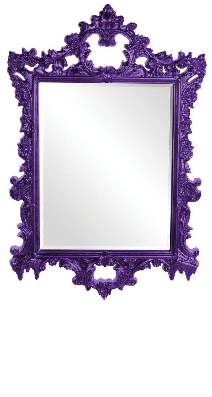 Pin baroque bed purple velvet fabric with rhinestones and black - Instyle Decor Com Purple Baroque Wall Mirrors Living Room Wall Mirrors Dining