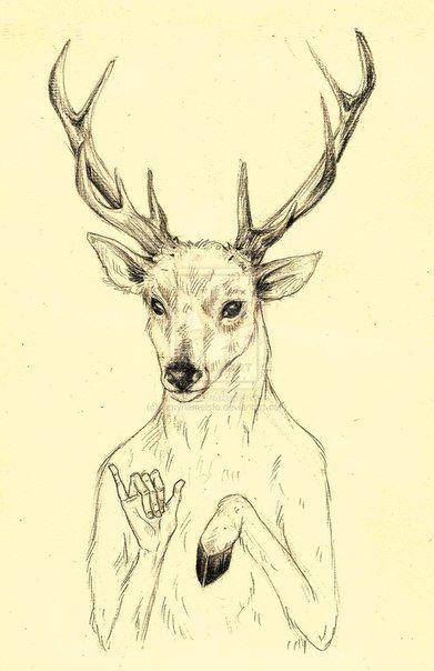 #hipster #deer