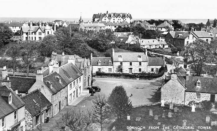 Sutherland, Dornoch from Cathedral tower 1950s