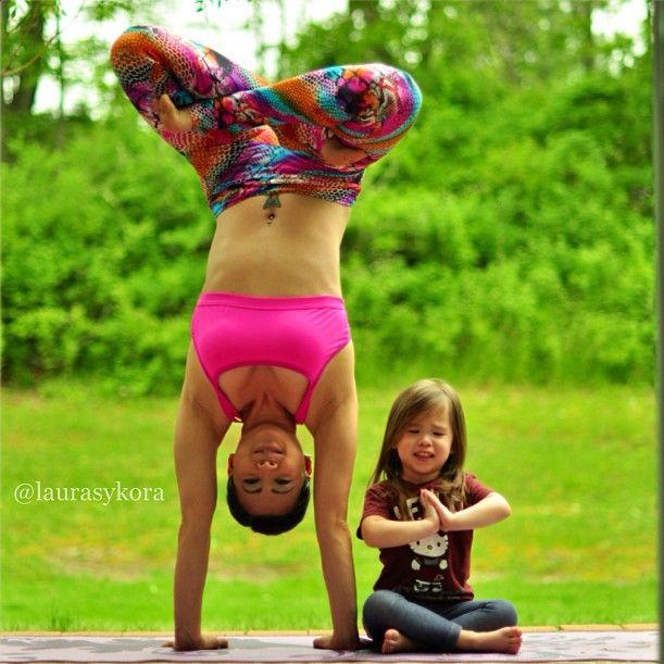 Morning Yoga via popsugar: Gisele Bündchen with her baby daughter, Vivian Brady. #Yoga #Baby