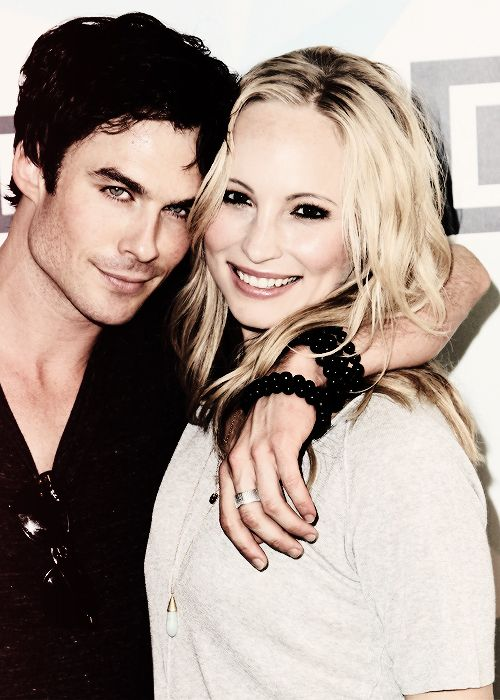 Candice Accola | Ian Somerhalder | The Vampire Diaries...  My two very favorites:  Damon & Caroline!