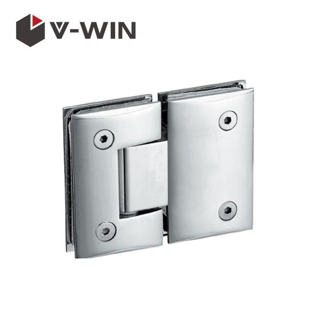 WALL TO GLASS SHOWER DOOR HINGE TITANIUM FINISH