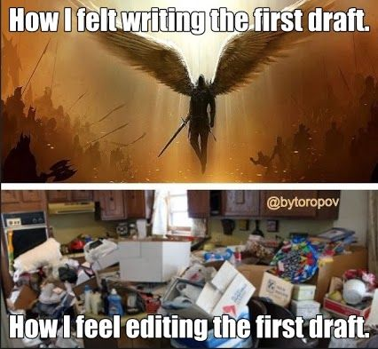 Writing first draft and then editing it...