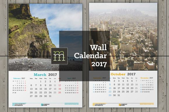 Calendar 2017 collection curated by mikhailmorosin on Creative Market.
