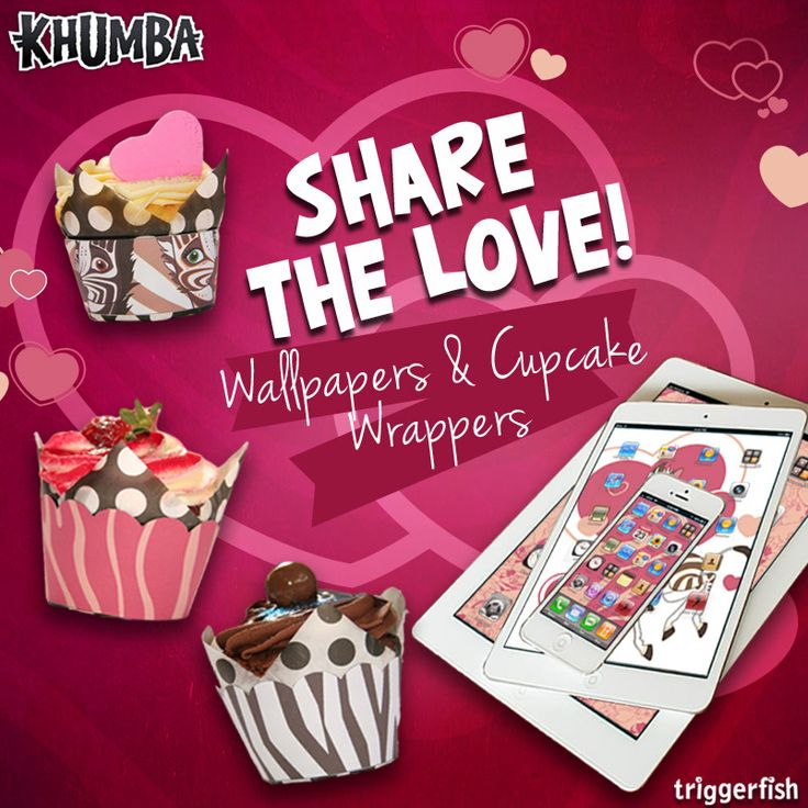 We are spreading the LOVE today with some GIVEAWAYS!   You too can SHARE the LOVE & decorate your own Valentines cupcakes with Khumba printables. OR download & share the digital Valentine's wallpapers. Choose from the selection in the SHARE the LOVE album for smartphones, tablets or your desktop. #loveyourstripes #valentines #sharethelove  Download on Facebook today!  Check the Share the Love Album