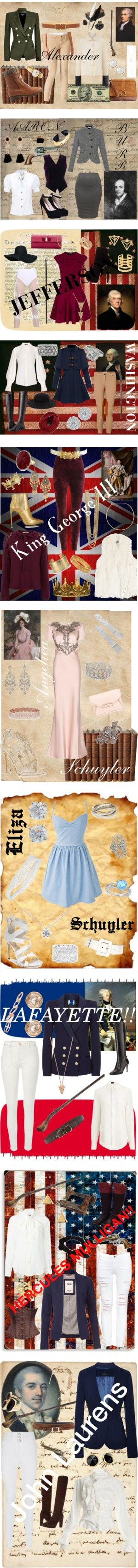 Hamilton Outfits by midsweetalk on Polyvore featuring art