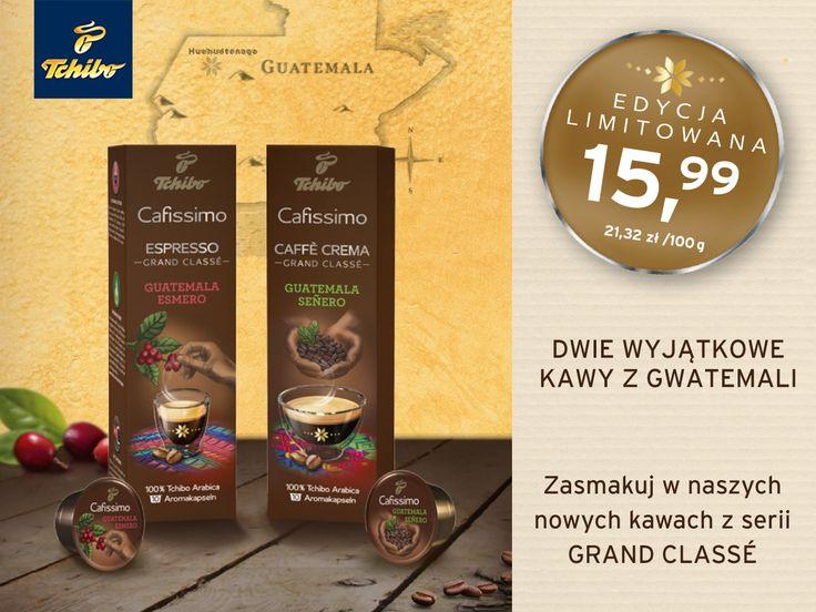 Odkrywaj nowe kawowe smaki! Przenieś się do barwnego świata Gwatemali i rozkoszuj się wyjątkowym Espresso i wyśmienitą Caffè Crema. :) #TchboPolska #Cafissimo