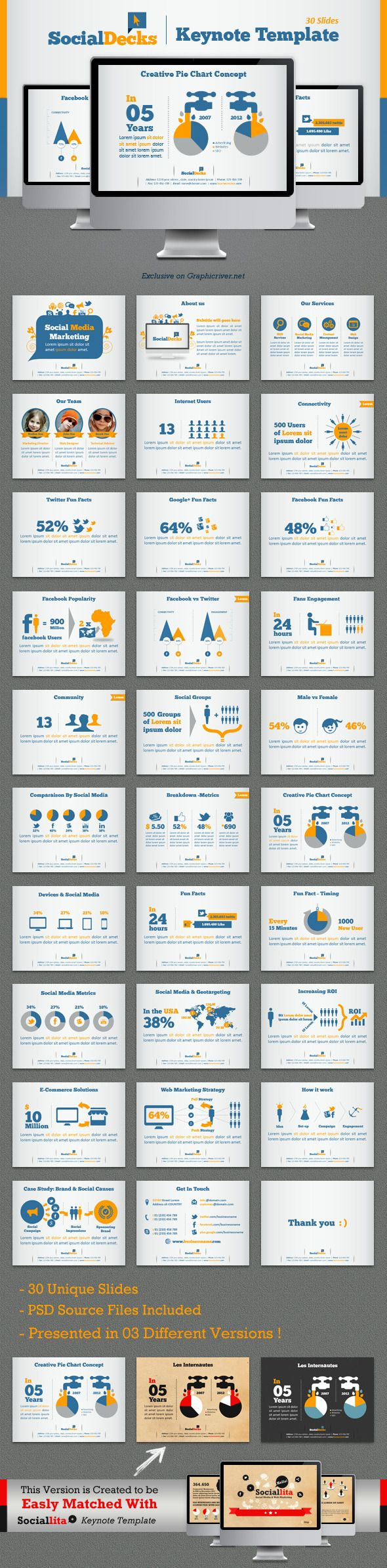 SocialDecks Keynote Template #keynote #keynotetemplate Download: http://graphicriver.net/item/socialdecks-keynote-template/4456737?ref=ksioks