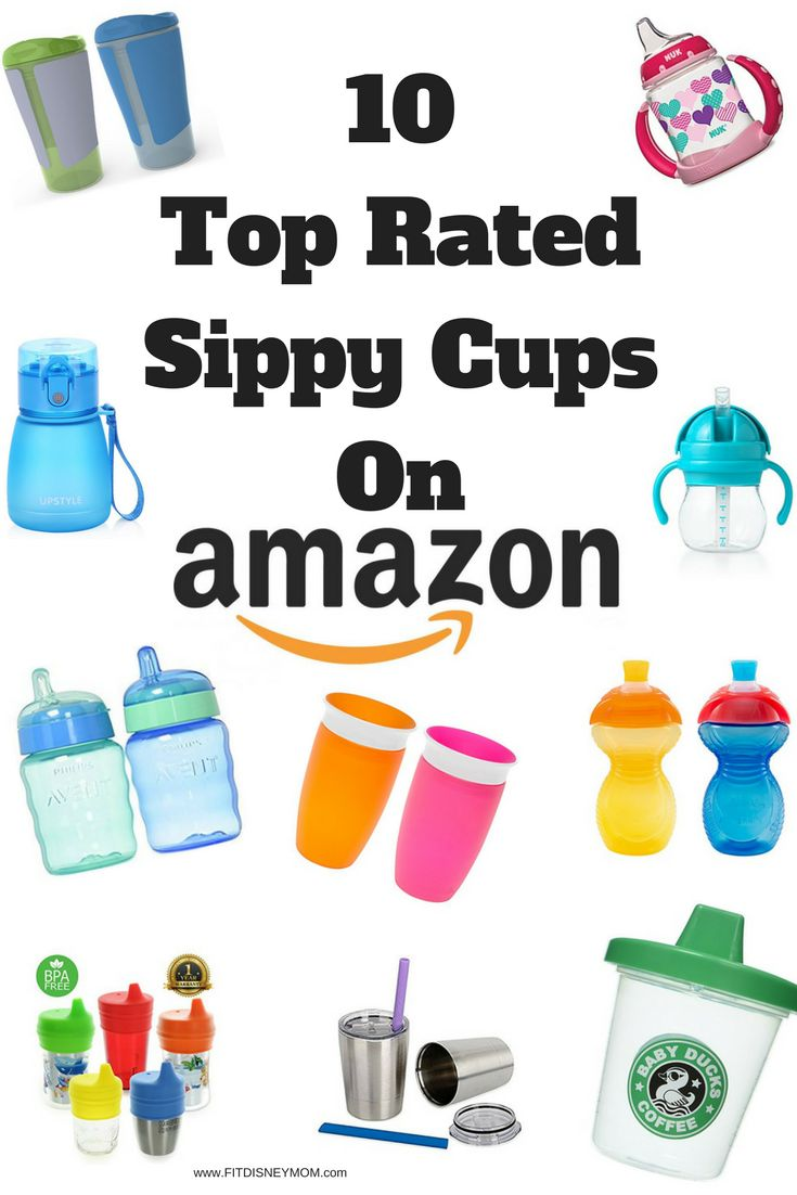 Rated by consumers, the top rated sippy cups on Amazon for toddlers.  #Toddlers #SippyCups #Baby