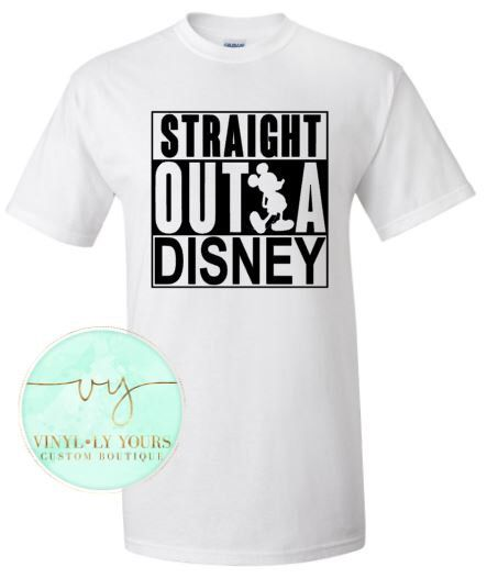 Straight Outta Disney- Family Disney Shirts, Disney Trip T-shirts, Cute Disney Shirts, Disney Vacation Shirts, Vacation Matching Disney Tees by VYCustomBoutique on Etsy https://www.etsy.com/listing/266998909/straight-outta-disney-family-disney