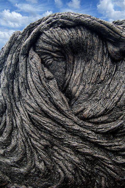 Sleeping Pele, a natural lava flow on Big Island, Hawaii, USA