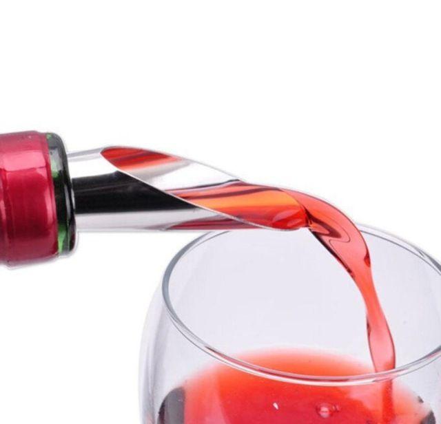 4 Pcs Metal Liquor Pourer Flow Wine Bottles Pour Spouts Stopper Stainless Steels