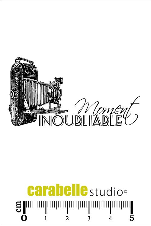 """Tampon Carabelle """"Moment inoubliable"""" - Art Stamp - 3,50 €"""