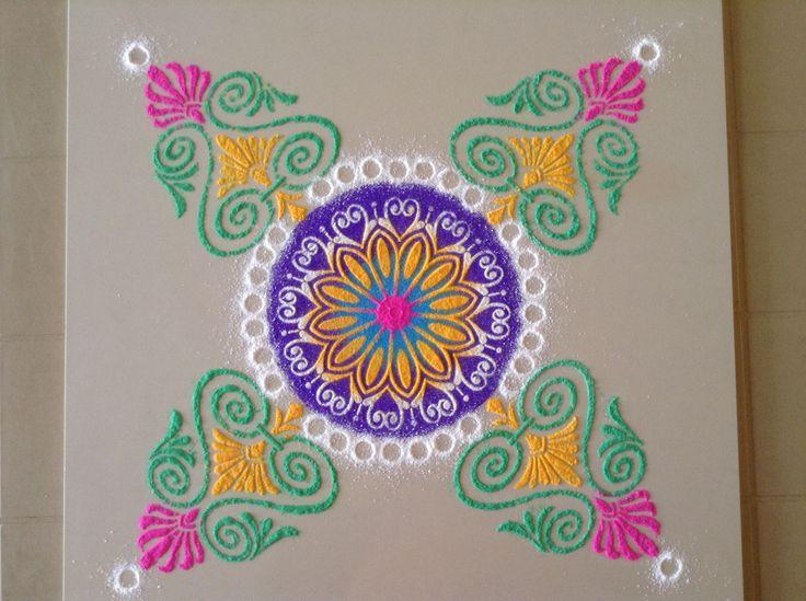 Diwali rangoli kolam stencil DIY