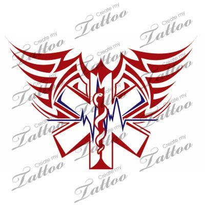 Tribal ems tattoo