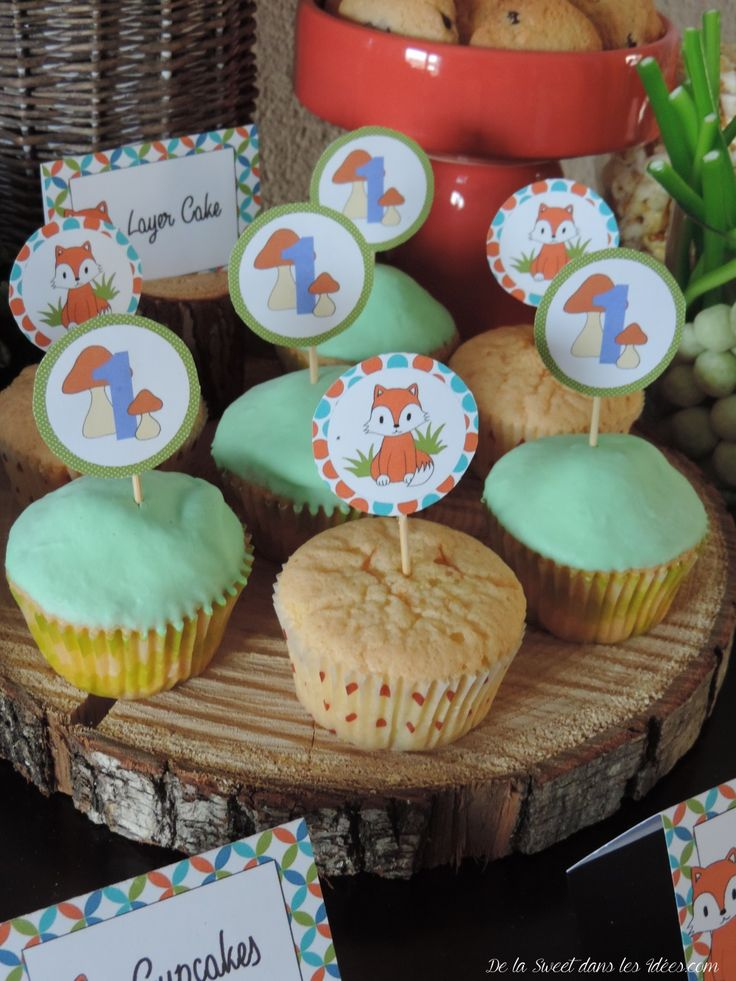 Toppers cupcakes little fox