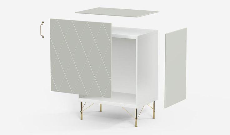 Superfront sideboards. Built on Ikea's Besta frames.