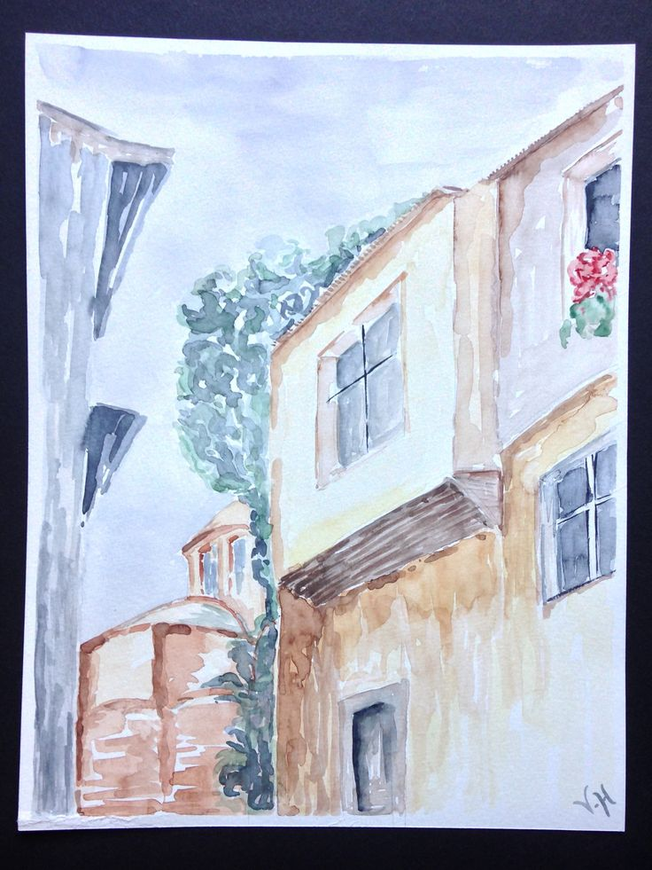 Watercolor Painting / Handmade / Gift / Wall Hanging / Home Decor / Landscape / Nature / Size: Height 12.9 Inches X Width 10 Inches