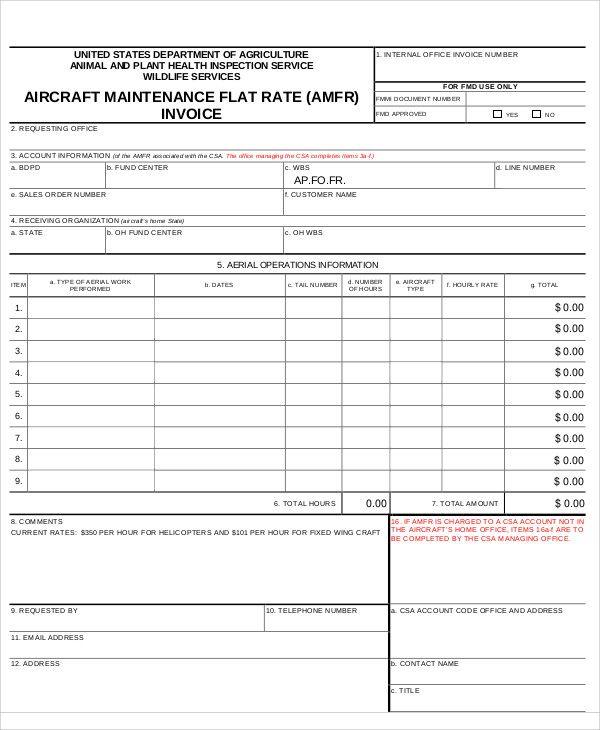 11 Maintenance Invoice Templates Invoice Template Templates