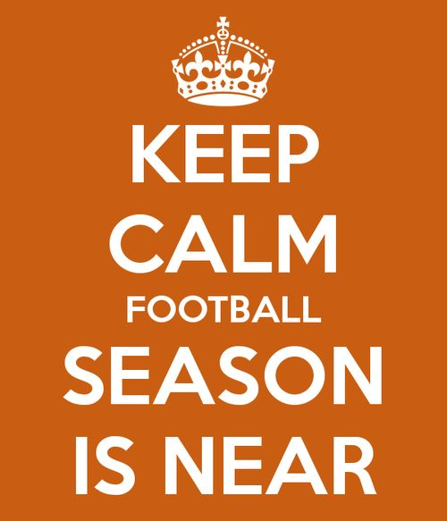 Football Season = Happy girl :)  Also--someone should find the sign in red and black.  Better than the orange. :)