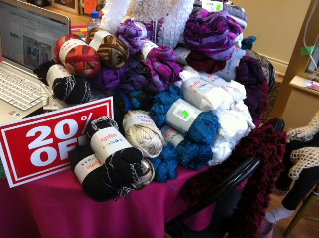 On sale now (May, 2012)  20% off Katia Ronda and Ondas. Great for a scarf or as trim on another project!    #theyarnboutique  http://www.theyarnboutique.ca
