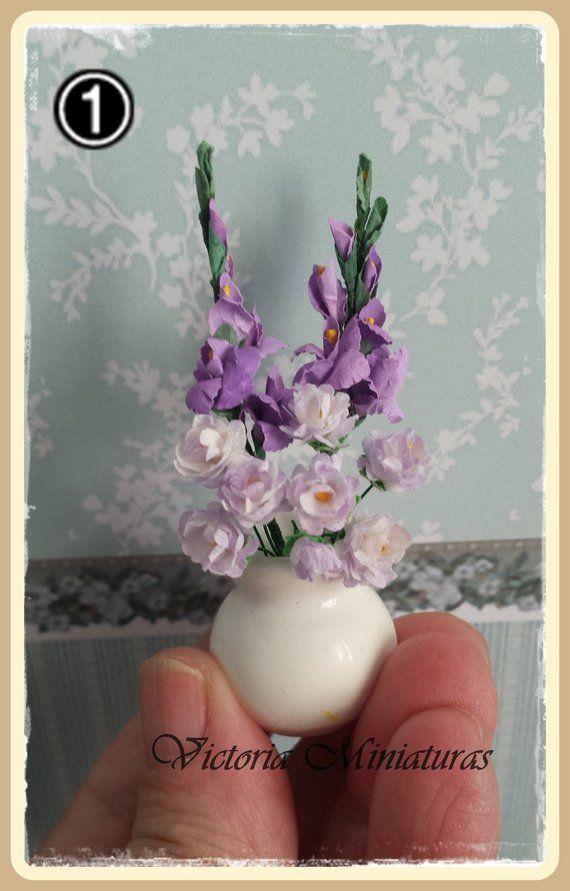 Jardín, P, W Rosas 1:12 escala 10 Casa De Muñecas Miniaturas Flores