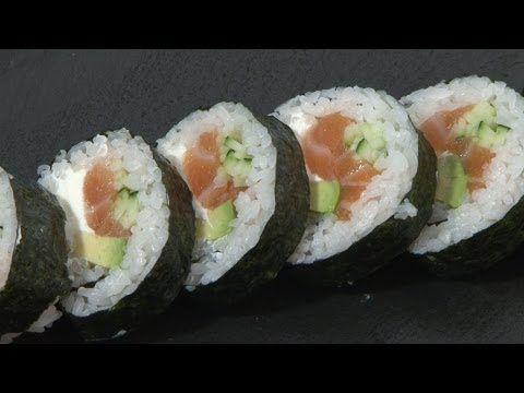 Recetas japonesas: Maki con salmón y queso Philadelphia