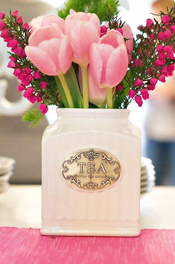 Modern Pink Tea Party Baby Shower // Hostess with the Mostess®