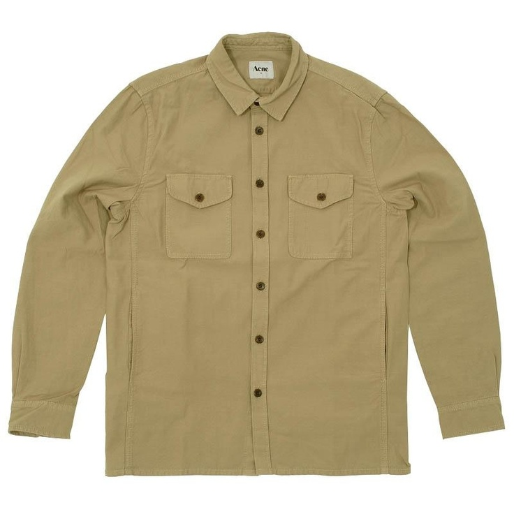 Acne Ben Worker Shirt  Beige