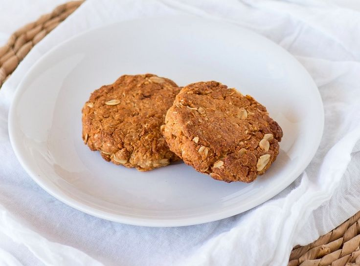 Healthy Butter Free and Sugar Free ANZAC Biscuits