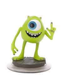 Mike Wazowski Mike Wazowski is a collectable figure based on the animated character from the Monsters Inc movies and a game piece for Disney Infinity game. In the game, Mike is surprisingly just as good as Sulley. http://awsomegadgetsandtoysforgirlsandboys.com/disney-infinity-characters/  DISNEY INFINITY CHARACTERS: Mike Wazowski