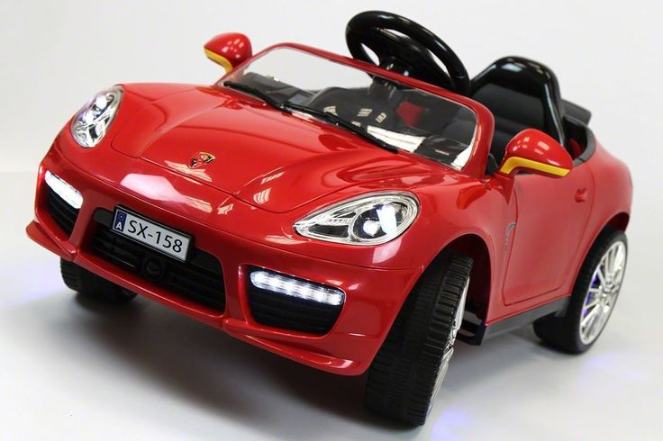 Porsche Boxster Style 12V Kids Ride-On Car MP3, Battery Powered Wheels RC Remote | Red