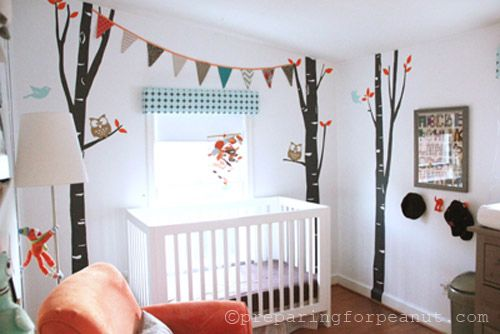 Birch Tree Nursery using decals: Design Projects, Children Rooms, Birches Trees, Projects Nurseries, Trees Nurseries, Baby Rooms, No Paintings Birches, Trees Wall Decals, Kids Rooms