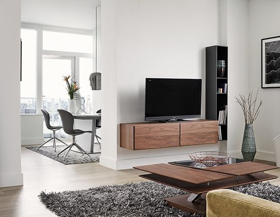 Wall mounted TV unit Lugano by BoConcept