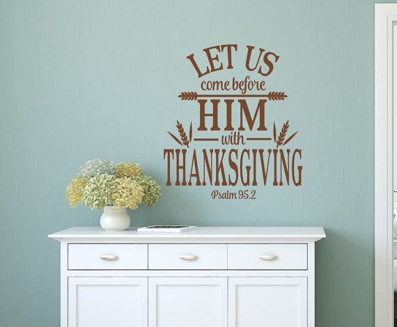 This #decal measures 20X20  This wall decal will add the finishing touch to your favorite room. With a matte finish it will look like it's painted right on the wall.    ╔═══... #home #décor #rustic #southern #walldecal #monogram #scripture #wedding #christmas #thanksgiving