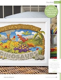 Dino World The World of Cross Stitching Issue 233 October 2015 Saved