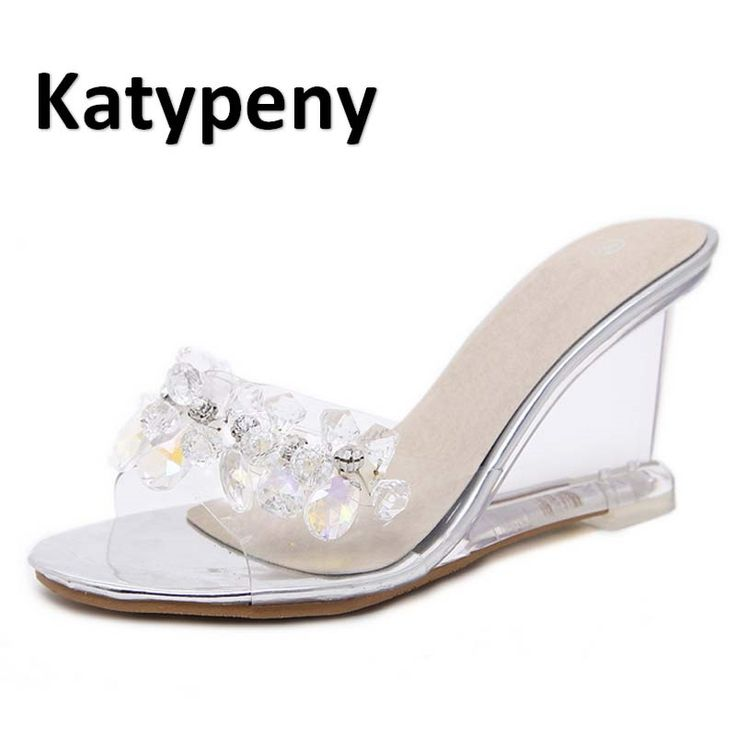 34.73$  Watch here - http://ali69w.shopchina.info/1/go.php?t=32802626898 - summer woman shoes 2017  Sexy Crystal Transparent Women's High-Footed Platform Foot Shoes 8.5 cm Large Size Shoes 34-40 LX 833-5  #buyonlinewebsite