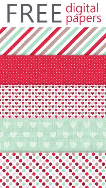 Carta decorata da stampare per progetti romantici fai da te! | Creare con la carta ♥